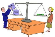 缺乏工作生活平衡 免版税库存图片