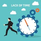 缺乏时间 传染媒介例证股票 库存例证