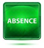 缺席霓虹浅绿色的方形的按钮 向量例证