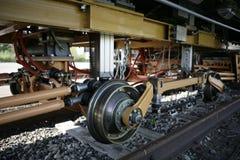 缺点铁路运输wheelset 免版税图库摄影