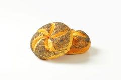 罂粟种子小圆面包 库存照片