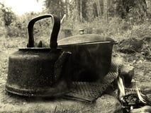 罐和水壶 免版税库存照片