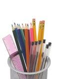 罐和铅笔 免版税库存图片