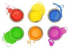 罐头油漆 免版税库存照片
