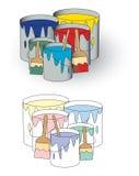 罐头油漆 库存例证
