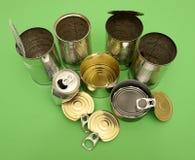 罐头金属化回收 免版税库存照片