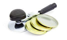 罐头食品密封设备海豹捕猎 库存照片