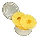 罐子菠萝圆环 免版税库存图片