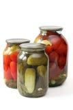 罐子蔬菜 免版税库存照片