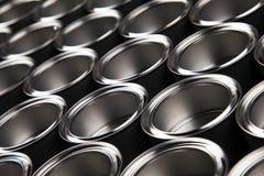 罐子金属罐头,绘的背景 免版税库存照片