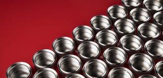 罐子金属罐头,绘的背景 库存照片