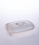 罐或陶瓷食物罐在背景 库存图片