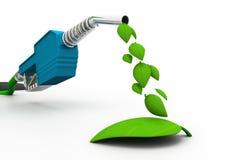 罐概念eco燃料绿色 免版税库存照片