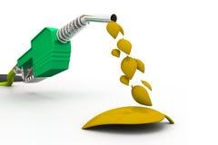 罐概念eco燃料绿色 图库摄影