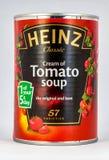 罐蕃茄汤 库存照片