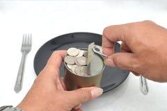 罐装的金钱 库存图片