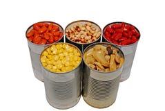 罐装蔬菜 库存照片