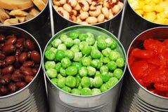 罐装蔬菜 免版税库存图片