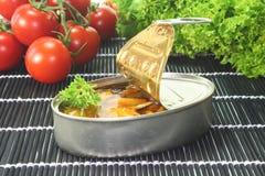 罐装蛤蜊 免版税库存照片