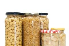 罐装豆类 库存照片