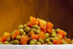 罐装豌豆 免版税库存照片