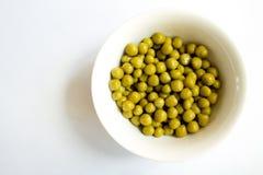 罐装豌豆 免版税库存图片