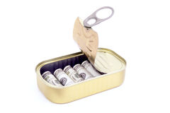 罐装货币 免版税库存图片