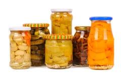 罐装集合蔬菜 库存照片