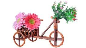 罐,木自行车 图库摄影