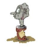 从罐头的妖怪 免版税库存照片