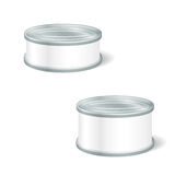 罐头的,蜜饯现实空白的罐子,保存 假装U 皇族释放例证