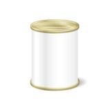 罐头的,蜜饯现实空白的锡,保存 嘲笑 库存例证