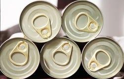 罐头盒盖  免版税库存照片