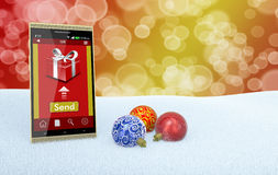 网上圣诞节礼物 图库摄影