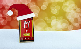 网上圣诞节礼物 免版税图库摄影
