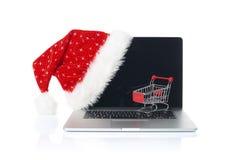 网上圣诞节购物 图库摄影
