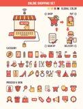 网上孩子的购物infographic元素 免版税库存照片