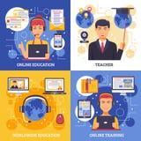 网上教育训练设计观念 皇族释放例证