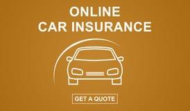 网上汽车保险概念 免版税库存图片