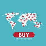 网上流动阿普斯的购物平的概念 免版税图库摄影