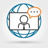 网上电视电话会议 向量例证
