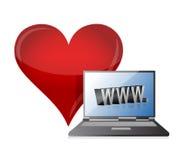 网上约会概念例证设计 免版税库存照片
