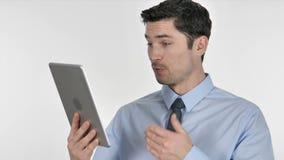 网上视频聊天通过由商人的片剂,谈话 股票录像