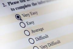 网上计算机调查 免版税库存图片