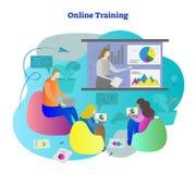 网上训练传染媒介例证 学会从老师介绍的学生教育 从距离的放出和演讲 库存图片