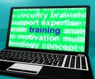网上训练计算机消息 库存照片