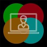 网上训练象 元素例证 皇族释放例证