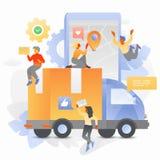 网上货物跟踪 库存例证