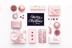 网上购物,圣诞节销售概念 节礼日销售 免版税库存图片