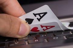 网上赌博的概念 免版税库存图片